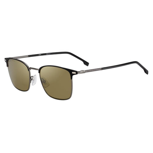Hugo Boss 1122/S - Matte Black - Gold Mirror