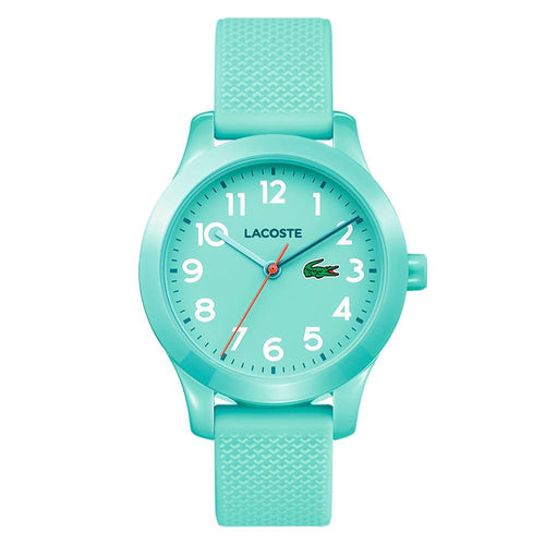 Lacoste 12.12 Kids Turquoise Silicone Watch - 2030005