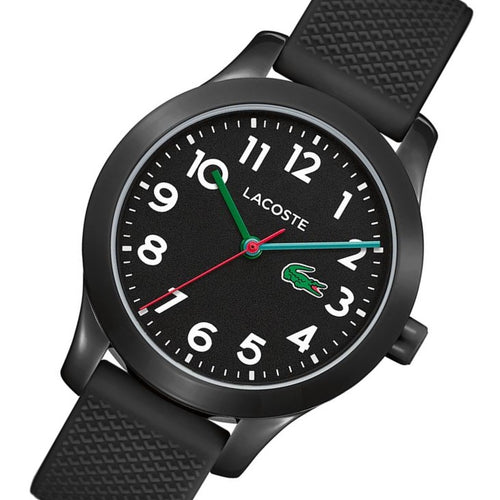 Lacoste 12.12 Black Silicone Band Kids Watch - 2030032