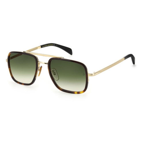 David Beckham DB 7002/S - Gold Havana - Green Shaded