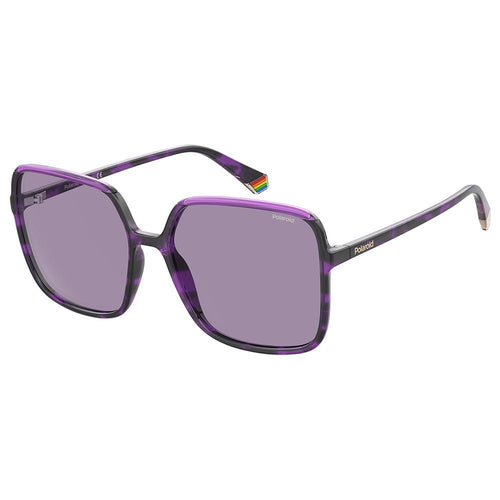 Polaroid Women's Sunglasses Square Frame Violet Polarized Lens - Pld 6128/S