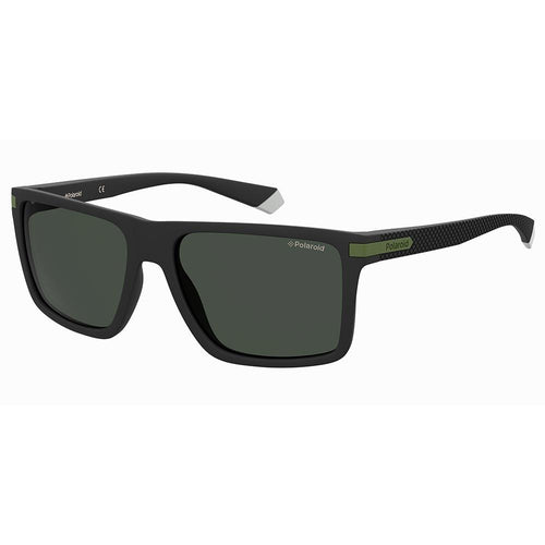Polaroid Men's Sunglasses Square Frame Grey Polarized Lens - Pld 2098/S
