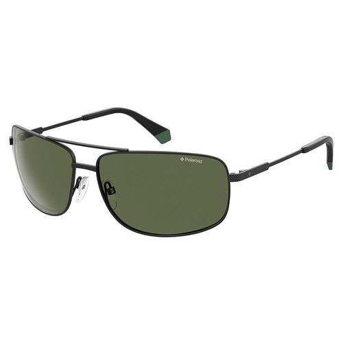 Polaroid Men's Sunglasses Square Frame Green Polarized Lens - Pld 2101/S