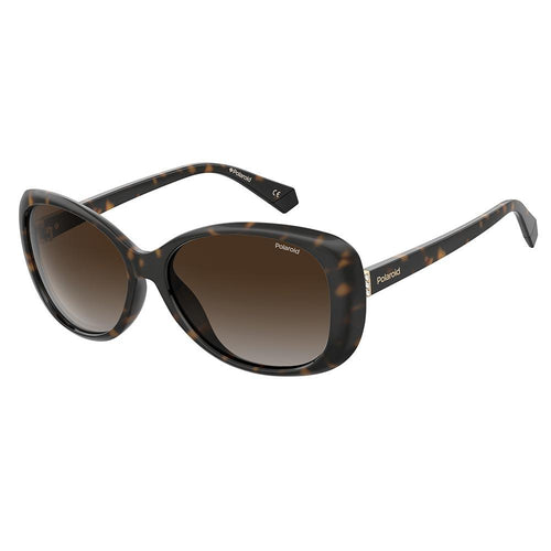 Polaroid Women's Sunglasses Oval Frame Brown Shaded Polarized Lens - Pld 4097/S