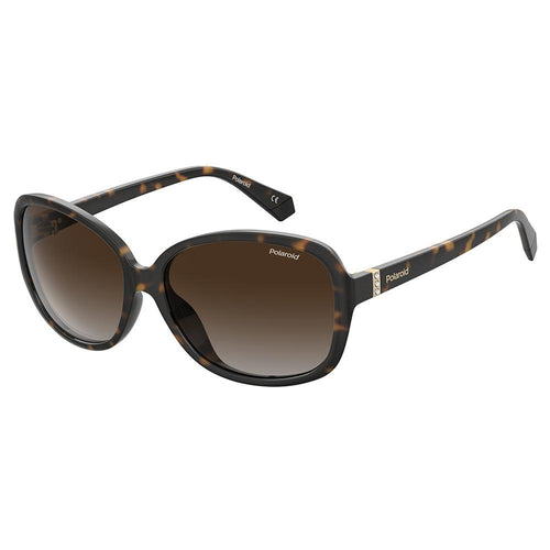 Polaroid Women's Sunglasses Oval Frame Brown Shaded Polarized Lens - Pld 4098/S