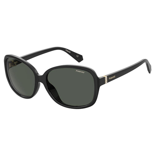 Polaroid Women's Sunglasses Oval Frame Grey Polarized Lens - Pld 4098/S