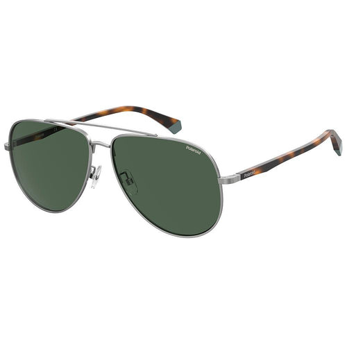 Polaroid Men's Sunglasses Aviator Frame Green Polarized Lens - Pld 2105/G/S
