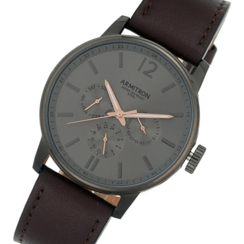 Armitron Brown Leather Men's Watch - 205217DGDGBN