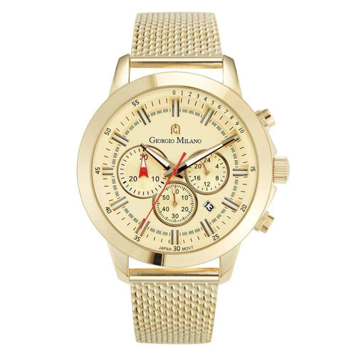 Giorgio Milano 224 Gold Mesh Men's Chrono Watch - 224SG5