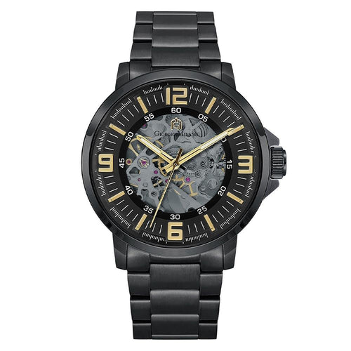 Giorgio Milano Black Steel Automatic Men's Watch - 228SBK3