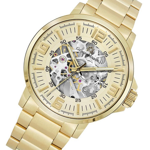 Giorgio Milano Gold Steel Automatic Men's Watch - 228SG5