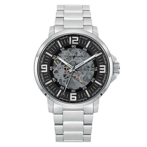 Giorgio Milano Silver Steel Automatic Men's Watch - 228ST3