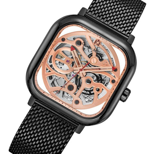Giorgio Milano Black Mesh Automatic Men's Watch - 229SBK15