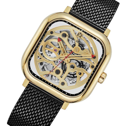 Giorgio Milano Black Mesh Automatic Men's Watch - 229SGBK5