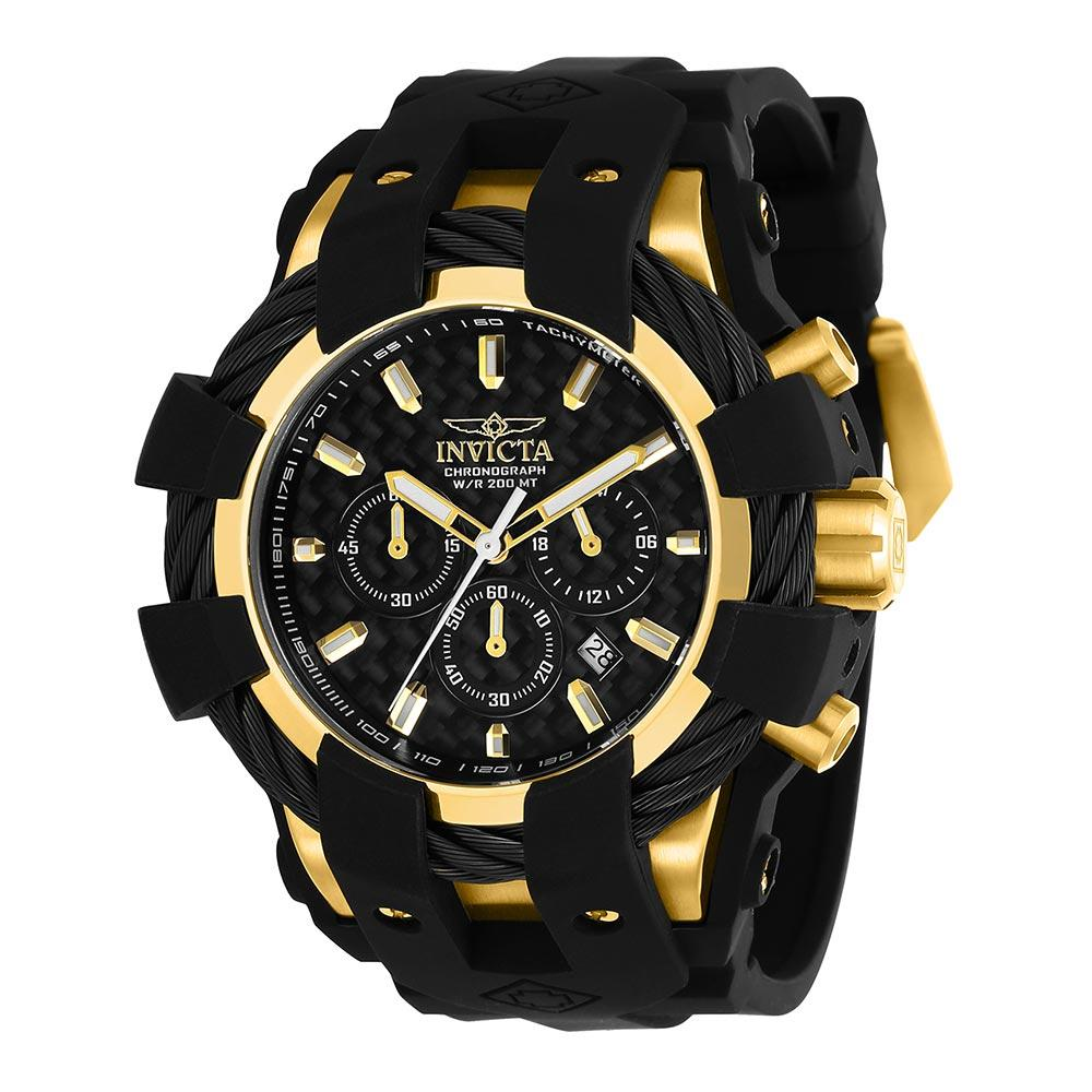 Invicta Bolt 48 mm Black Silicone Men's Watch