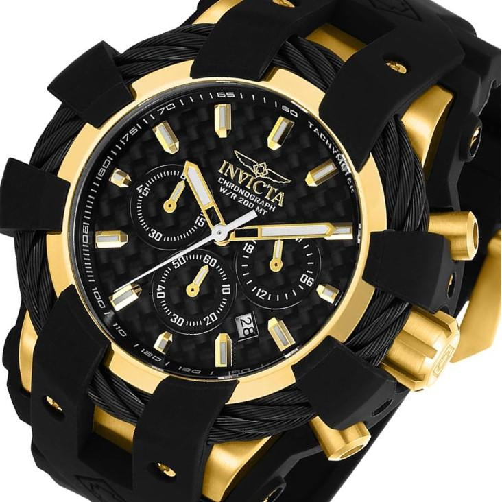 Invicta Bolt 48 mm Black Silicone Men's Watch - 23861