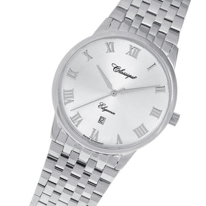 Classique Elegance Silver Steel Men's Swiss Watch - 28101W