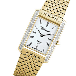 Classique Diamonds Premier Gold Steel Ladies Swiss Watch - 28126GD