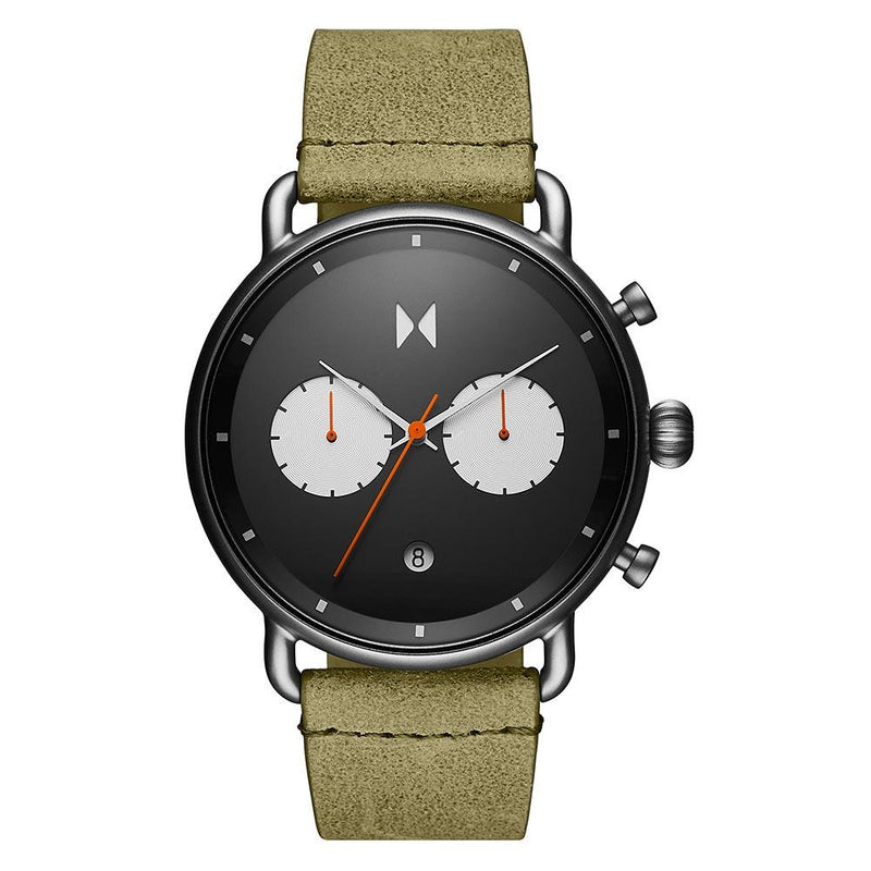 MVMT Blacktop Moss Leather Men's Chrono Watch - 28000007D