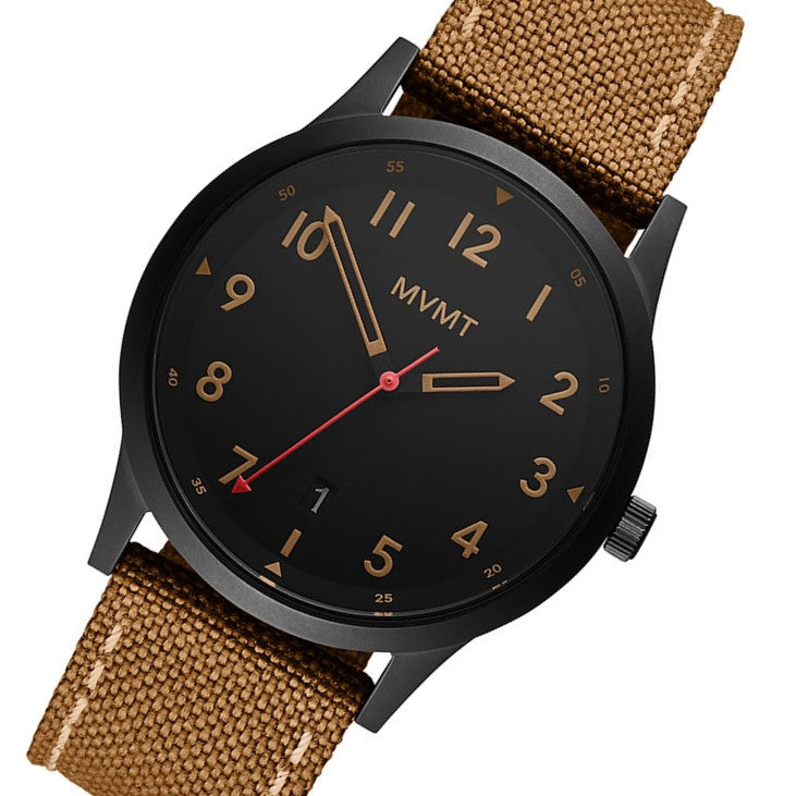 MVMT Field Brown Canvas Men's Watch - 28000017D