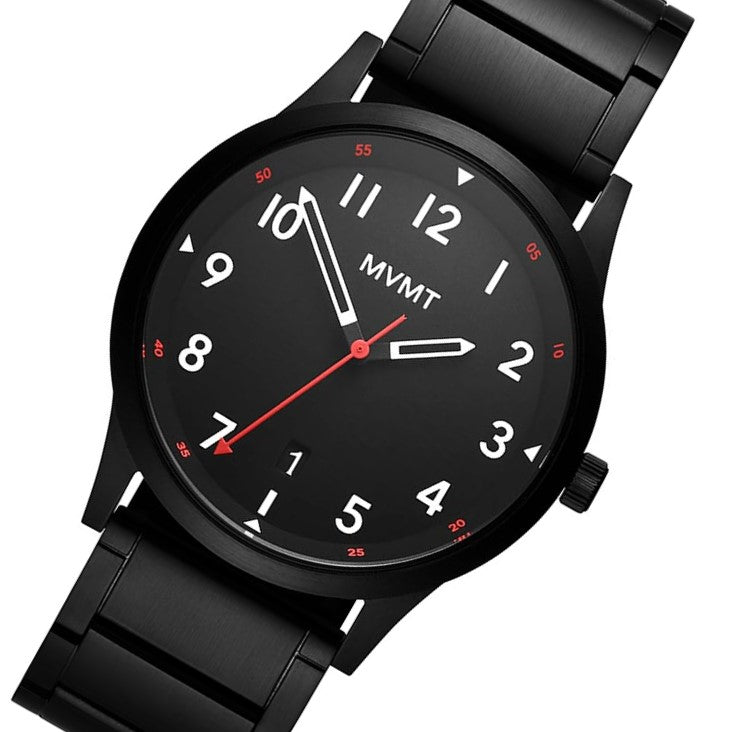 MVMT Field Black Steel Men's Watch - 28000018D