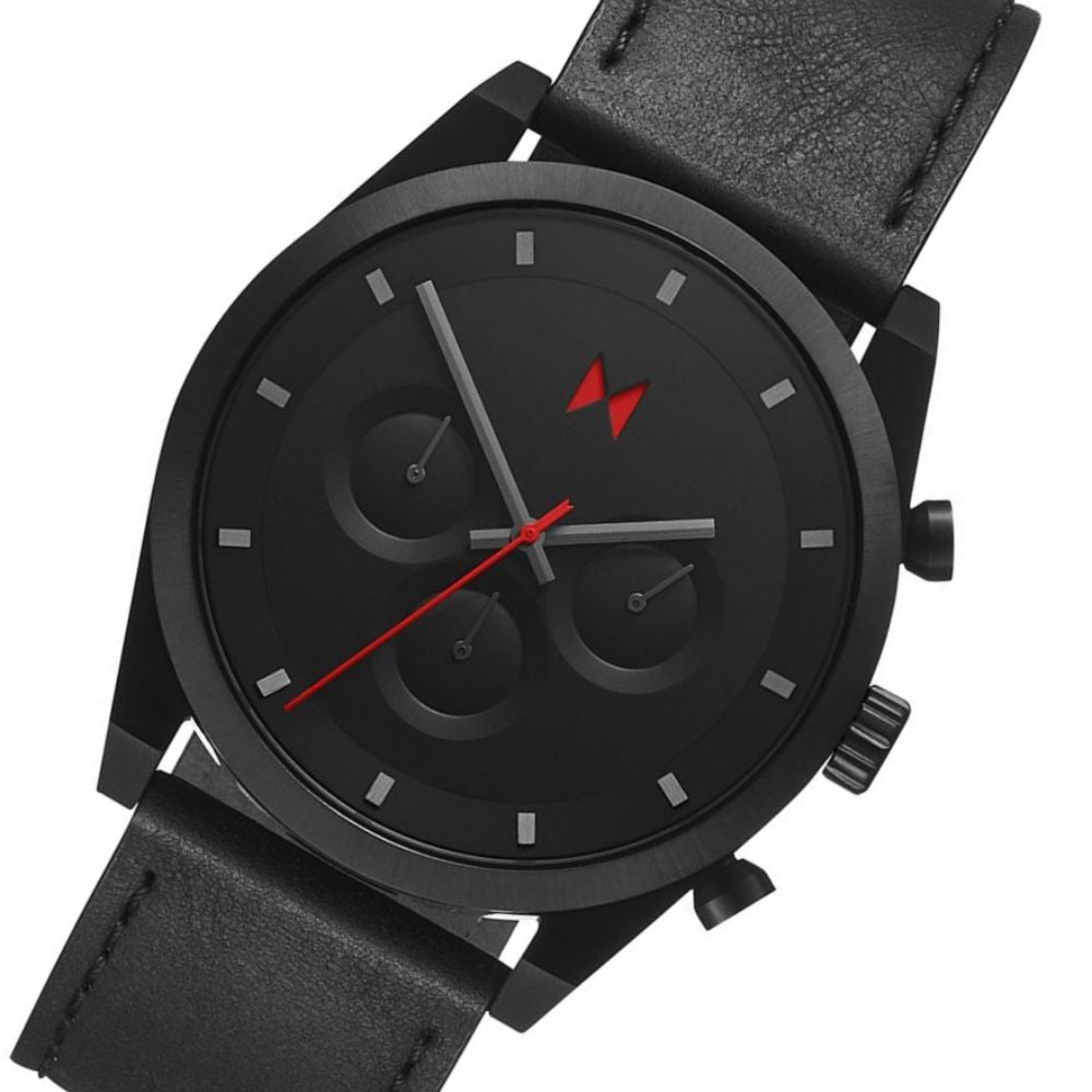 MVMT Element Ember Black Leather Men's Watch - 28000045D