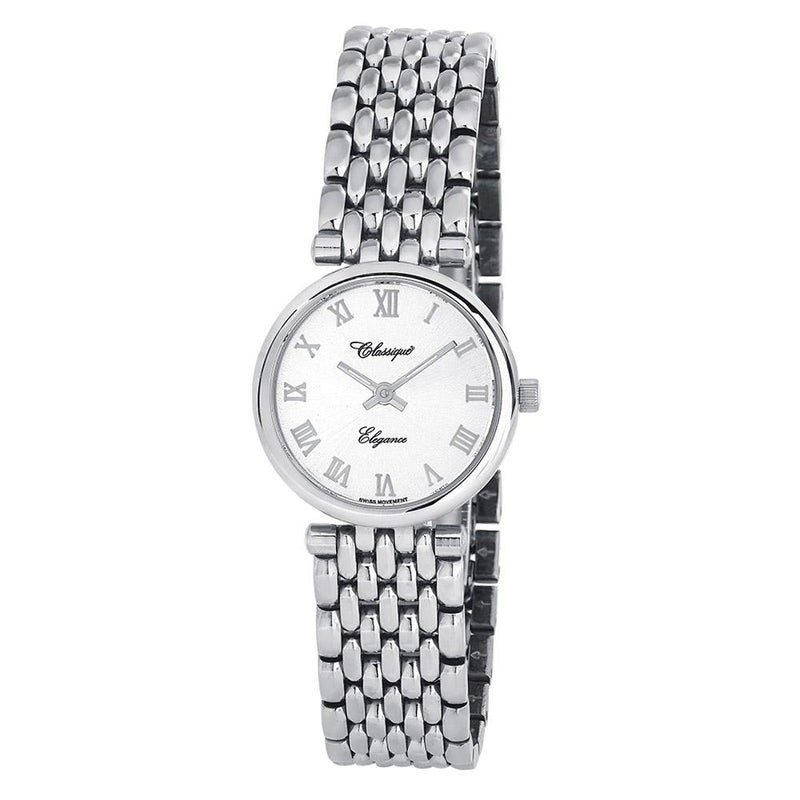 Classique Elegance Stainless Steel Ladies Swiss Watch - 28134W