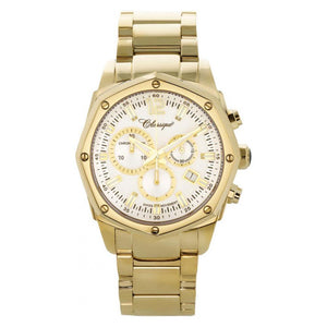 Classique Elegance Gold Steel Chrono Men's Watch - 28141GWD
