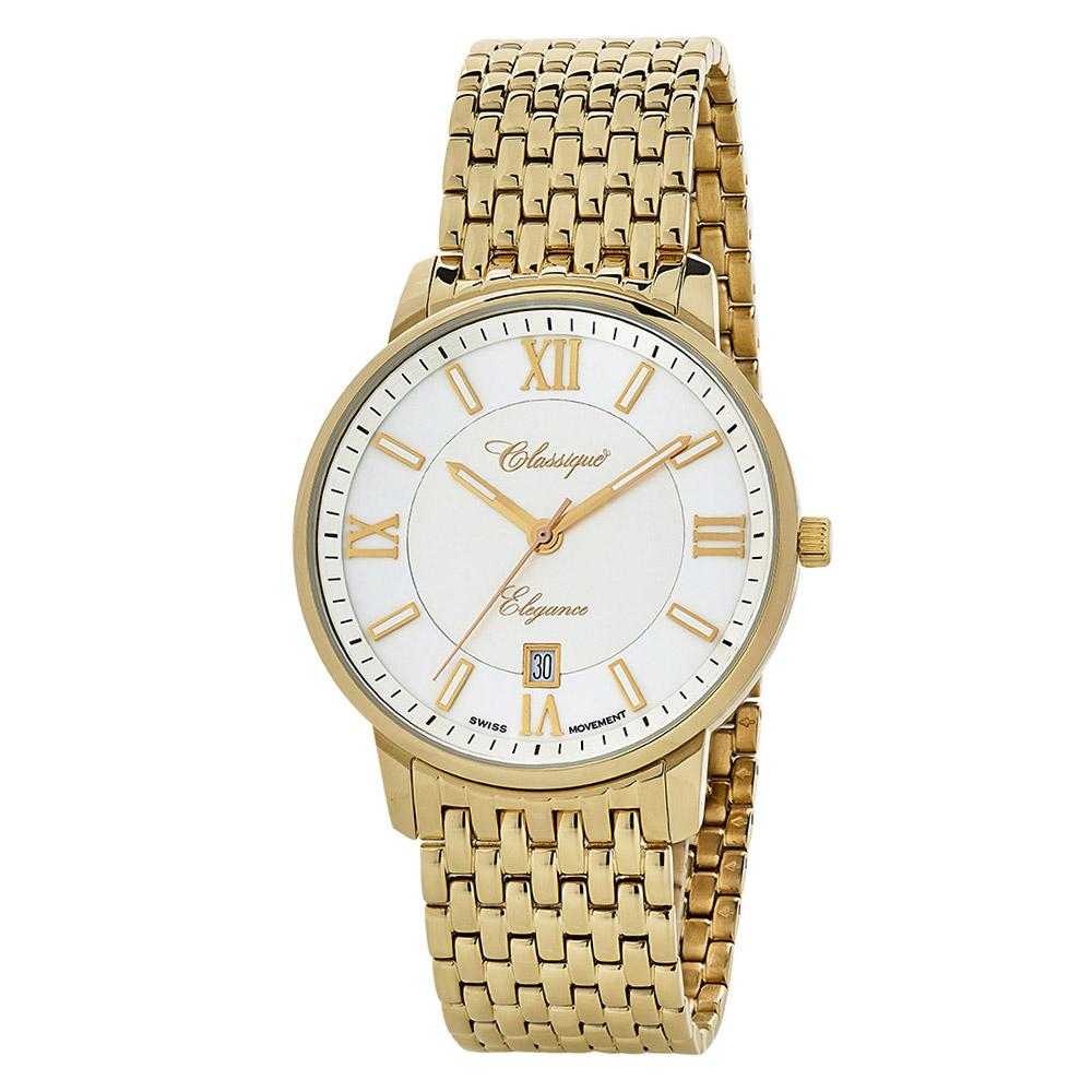 Classique Elegance Gold Steel Men's Swiss Watch - 28149G