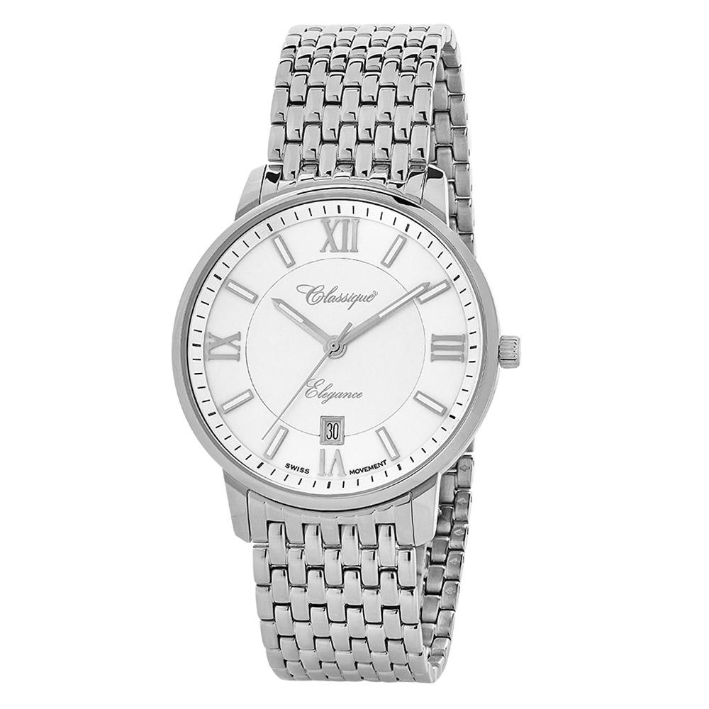 Classique Elegance Stainless Steel Men's Swiss Watch - 28149W