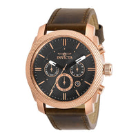 Invicta Aviator Brown Leather Multi-function Men's Watch