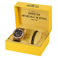 Invicta Aviator Brown Leather Multi-function Men's Watch - 29799