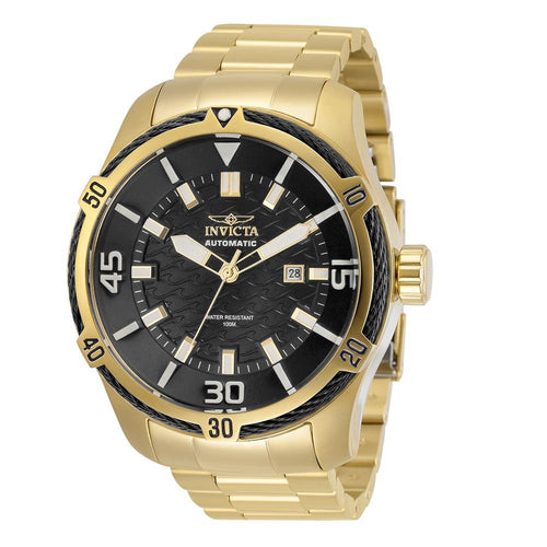 Invicta Bolt Automatic 52 mm Gold Steel Men's Watch