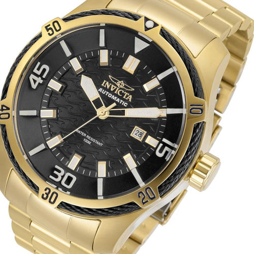 Invicta Bolt Automatic 52 mm Gold Steel Men's Watch - 29809