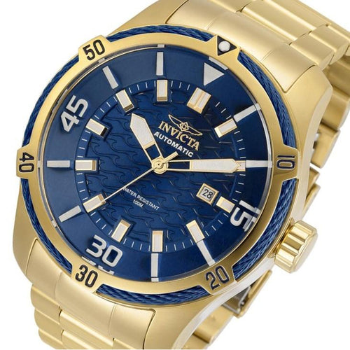 Invicta Bolt Automatic 45 mm Gold Steel Men's Watch - 29810