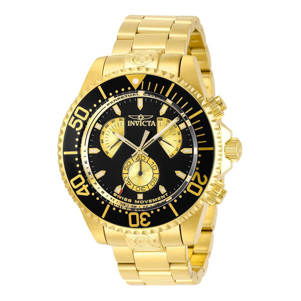 Invicta Pro Diver 47 mm Gold Steel Men's Watch
