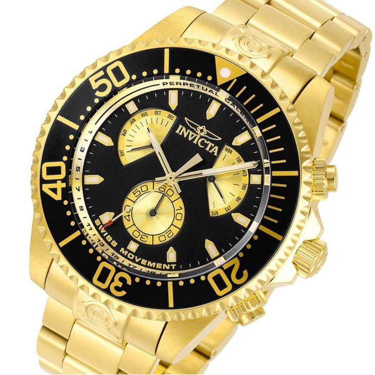 Invicta Pro Diver 47 mm Gold Steel Men's Watch - 29974
