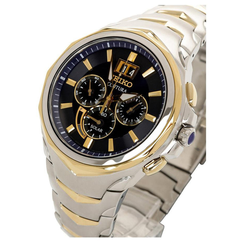 Seiko Coutura Dual-Toned Solar Powered Men's Watch - SSC642P