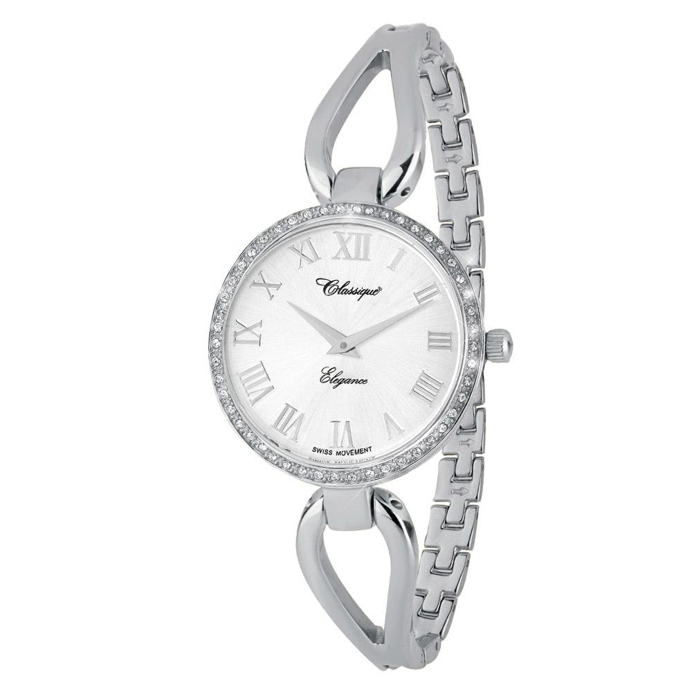 Classique Fashion Stainless Steel Half Bangle Ladies Swiss Watch - 7615W