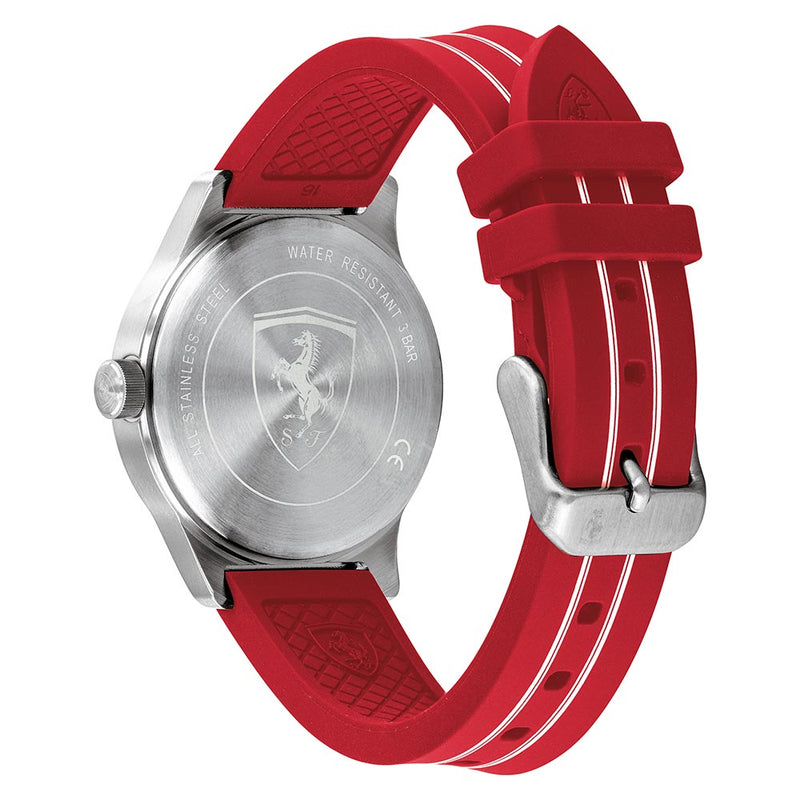 Scuderia Ferrari Academy Red Silicone Kids Watch - 810023