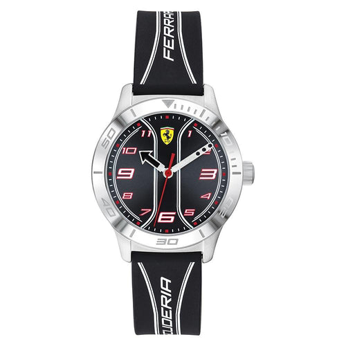 Scuderia Ferrari Academy Black Silicone Kids Watch - 810024