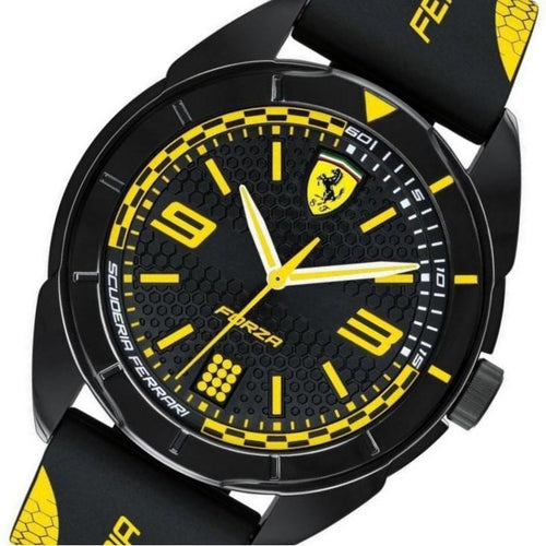 Scuderia Ferrari Yellow Silicone Men's Watch - 830516