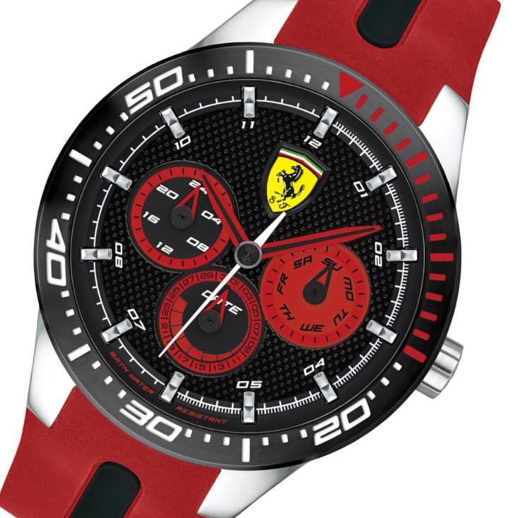 Ferrari Redrev T Black & Red Silicone Men's Watch - 830586