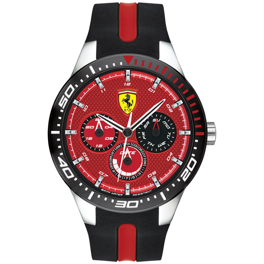 Ferrari Redrev T Black & Red Silicone Men's Watch
