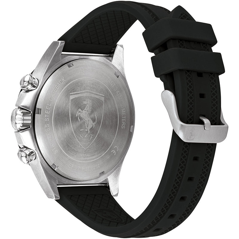Ferrari Pilota Black Silicone Men's Chronograph Watch - 830595