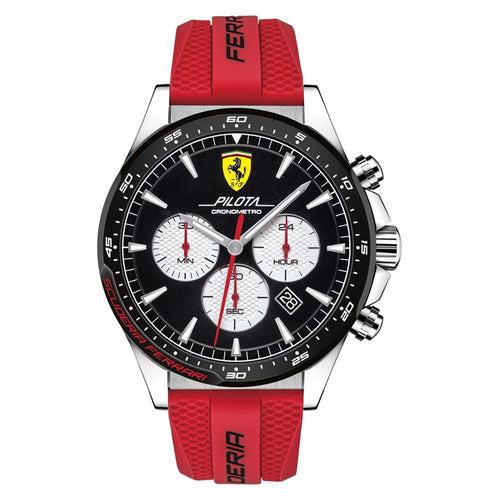 Scuderia Ferrari Pilota Red Silicone Men's Chrono Watch - 830596