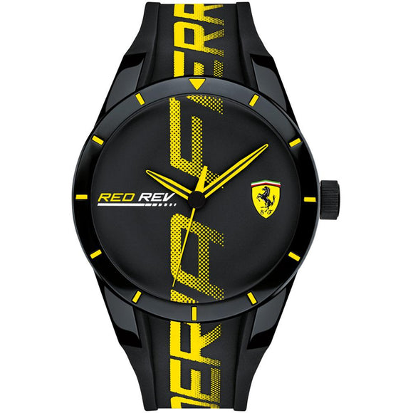 Ferrari Redrev Men's Black Sports Watch - 830615