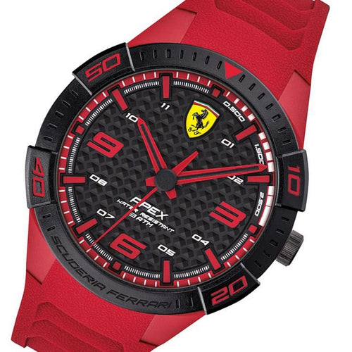 Scuderia Ferrari Apex Red Silicone Men's Watch - 830664