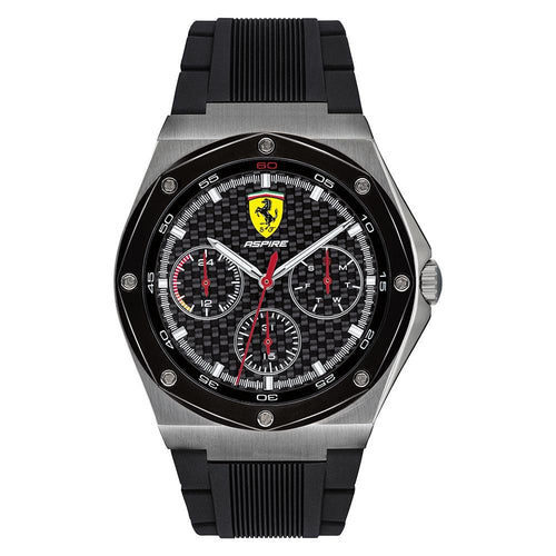 Scuderia Ferrari Aspire Black Silicone Men's Multi-function Watch - 830694