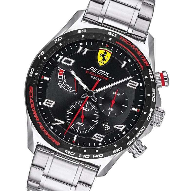 Scuderia Ferrari Pilota Evo Stainless Steel Men's Chrono Watch - 830720